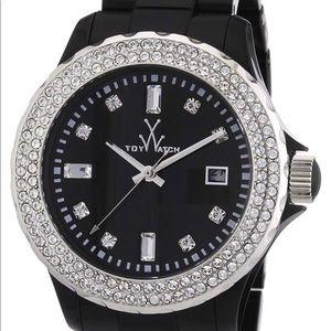 Toy Watch Plasteramic Black Crystal Ladies Watch